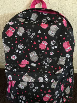 Large girl's black Owl backpack. New with tags!! for Sale in Fontana, CA
