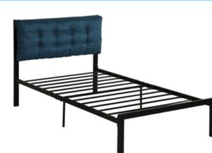 New twin bed frame with Blue headboard for Sale in Las Vegas, NV