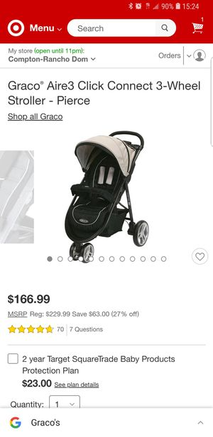 Graco® Aire3 Click Connect 3-Wheel Stroller for Sale in Compton, CA