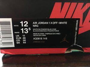 Air Jordan 1 x Virgil Off-White Size 12 for Sale in Atlanta, GA