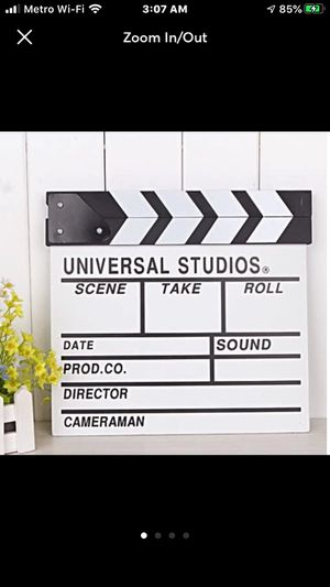 Universal Studios Movie Director Slateboard Clapper for Sale in McCalla, AL