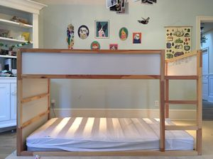 IKEA loft bed + 2 mattresses for Sale in Portland, OR
