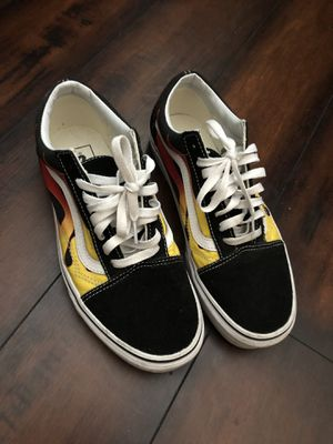 Vans Off the Wall Flame Old Skools Sz 8 for Sale in Chula Vista, CA