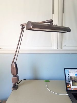 Vintage 50's Floating Industrial Tanker Desk Lamp for Sale in Santa Fe Springs, CA