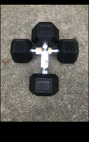 40 lb rubber hexagon weights for Sale in Merrick, NY