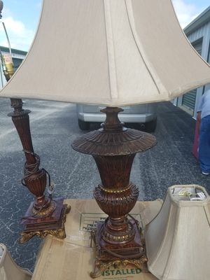 3 lamps with shades. for Sale in Tampa, FL