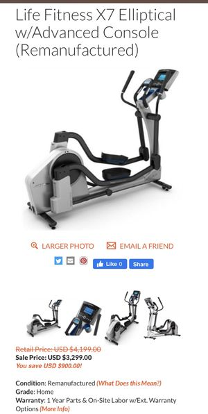 Elliptical Life Fitness x7 for Sale in Germantown, MD