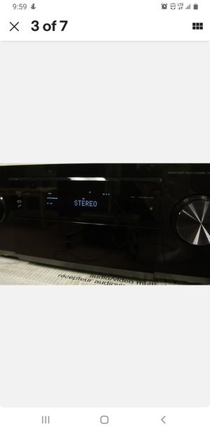 Pioneer VSX-1121-K Home theater receiver with 3D-ready HDMI switching and Apple AirPlay 110wpc for Sale in Pompano Beach, FL