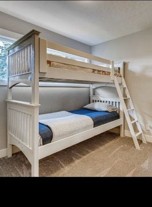 Kids bunk bed with mattresses for Sale in Vancouver, WA