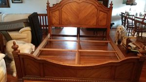 Wooden king bed frame for Sale in LOCH LYN HGHT, MD