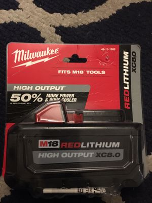 Milwaukee m18 8.0 read profile for Sale in Hartsdale, NY