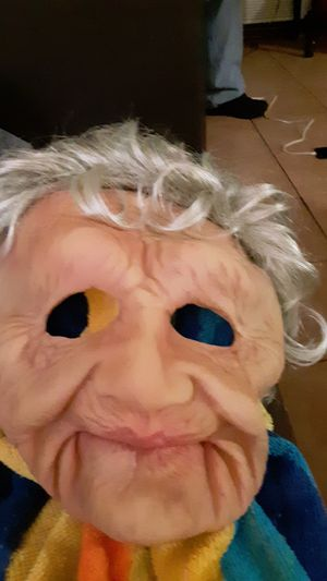 Brand new old lady mask cost 35 selling for 15 for Sale in Los Angeles, CA