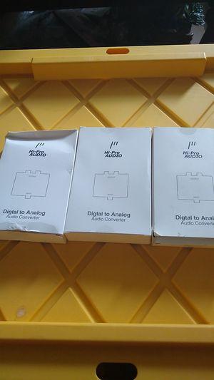 3pack Hi-Pro Audio Digital to Analog Audio Converter for Sale in San Bernardino, CA