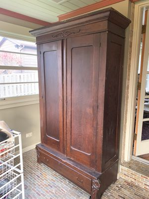 Antique armoire for Sale in Mount Prospect, IL