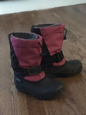 Girls Pink/Black Snow Winter Boots (Tundra, Size 12, Toddler/Little Girls/Big Kids) for Sale in Palatine, IL