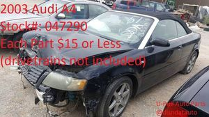 2003 Audi A4 @ U-Pull Auto Parts 047290 for Sale in Las Vegas, NV