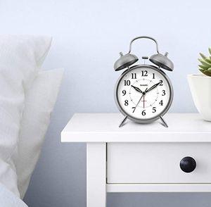 Sharp SPC800 Quartz Analog Twin Bell Alarm Clock (Silver) for Sale in Miami, FL