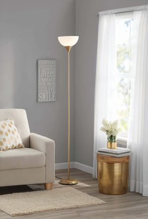 Gold floor lamp for Sale in Worcester, MA