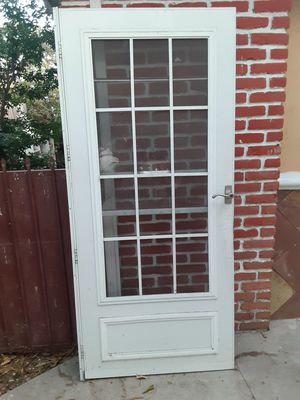Heavy duty screen door 36 by 80 with windows that open up and down for Sale in Long Beach, CA