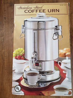 Brand new stainless steel coffee urn 20-60 -cup capacity for Sale in Auburn, WA