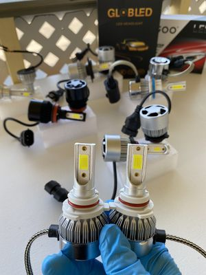 Led headlights with free license plate lights//luces led 💡 for Sale in Ontario, CA