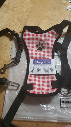 Slowton Dog harness with vehicle saftey belt for Sale in Lodi, OH