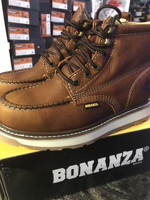 Work boots// Bonanza men's shoe// hablo español//SIZE//LT. BROWN COLOR.// disponibles diferentes medidas//different sizes available// for Sale in Skokie, IL