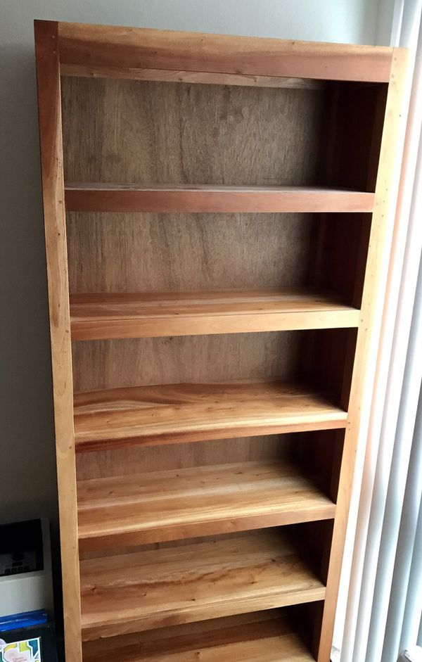 "Solid wood bookcase - 8' x 35.5"" x 12.5"""