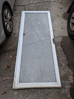 White Glass Storm Door for Sale in Chesapeake, VA