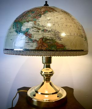 Earth Globe shaded accent desk lamp H14xW12 inch for Sale in Chandler, AZ