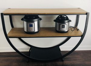 Modern Industrial Console Table for Sale in Clermont, FL