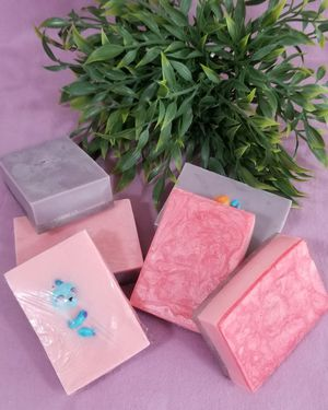 Handmade soap bars with toy surprise inside for Sale in Long Beach, CA