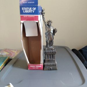 Gold Statue Of Liberty Figure. for Sale in Trenton, NJ