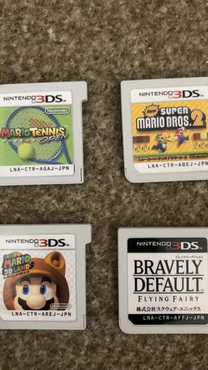 Super Mario Nintendo 3DS Soft Set BRAVELY DEFAULT lot for Sale in Westford, MA