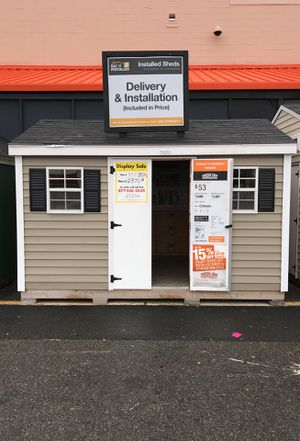 Sheds USA 8x12 Vinyl Classic Shed Display is now on sale at the Home Depot in Jericho NY for Sale in Glen Head, NY
