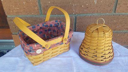 Longaberger Baskets - Basker & Bell for Sale in San Bernardino,  CA