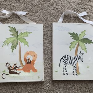 Kids Nursery Wall Art Decor Set for Sale in Austell, GA