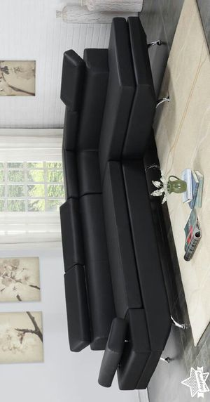 Brand New Black Leather Sectional Sofa / Couch $39 down payment for Sale in Houston, TX