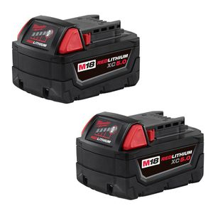 Milwaukee M18 18-Volt Lithium-Ion XC Extended Capacity 5.0Ah Battery Pack (2-Pack) FIRM PRICE for Sale in Dumfries, VA