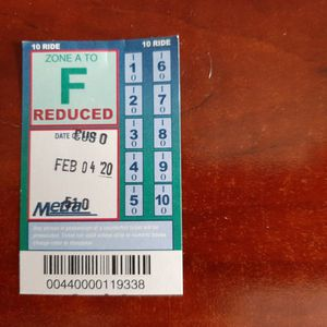 Metra A-F 10 rides 4 tickets half the price $35 each and 2 reduced 10 rides for Sale in Wheeling, IL