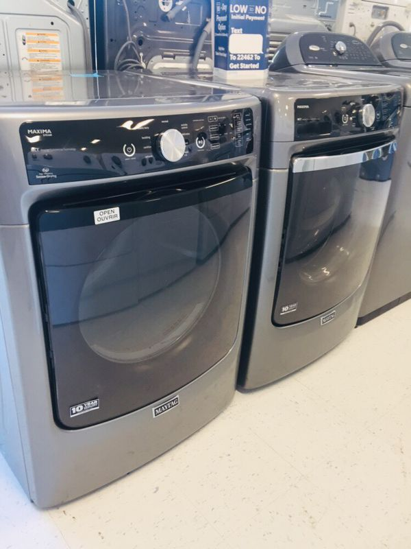 🔥🔥Maytag washer and electric dryer set from load 90 days warranty 🔥🔥
