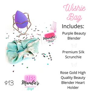 Wishie Bag Includes-beauty Blender,premium Silk Scrunchie,rose Gold Beauty Blender Holder for Sale in Lake Elsinore, CA