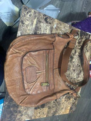 Beautiful Fossil messenger bag tan for Sale in Oak Park, IL