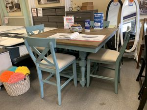 *NO CREDIT NEEDED* AWESOME AQUA FARMHOUSE DINING SET!!! EVERYTHING INCLUDED!!! EASY FINANCE!!!! for Sale in Raleigh, NC
