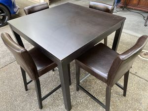 IKEA pub table and 4 chairs for Sale in Rocklin, CA