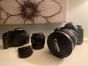 Canon 5D Mark III + Canon Rebel + 50mm + 24-70mm lens for Sale in Shoreline, WA