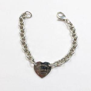 """.925 Sterling Silver Tiffany & Co. Woman's Heart Bracelet 7.5"""" 91133-3 for Sale in Tampa, FL"""