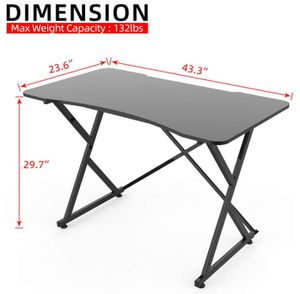 Brand New) Gaming Desk, 43 Inch PC Computer Gaming Desk Ergonomic Home Office Desk Table Gamer Workstation Gaming Table for Sale in Pasadena, CA