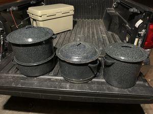 Granite ware steamer pots for Sale in Norfolk, VA