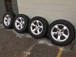 Dodge Ram chrome wheels rims tires new used we finance 14 15 16 17 18 19 20 22 24 26 28 for Sale in Warren, MI